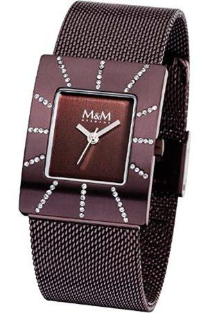 M&M Damen-Armbanduhr City Affairs Analog Edelstahl beschichtet M11853-995