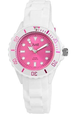 Just Watches Damen-Armbanduhr Analog Quarz Kautschuk 48-S5459WH-PI