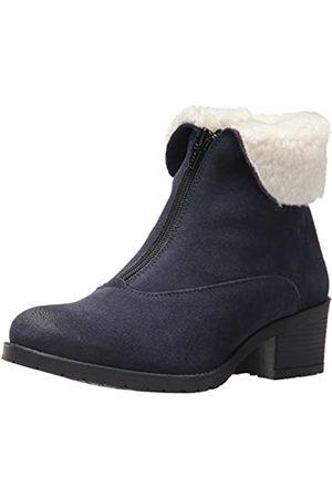 Bos. & Co. Women's Bellin Snow Boot Deep Blue/Off White Suede/Sherpa 36 M EU (5.5-6 US)