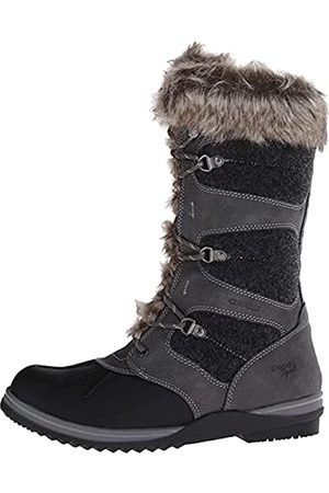 Blondo Women's Sasha Waterproof Snow Boot, Dark Grey Leather