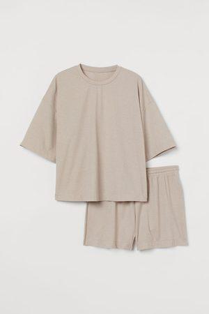 H&M Gerippter Pyjama
