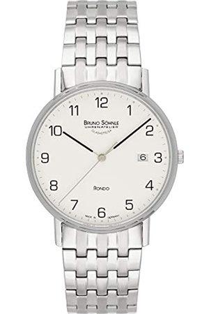 Soehnle Bruno Söhnle Herren Analog Quarz Uhr mit Edelstahl Armband 17-13105-222