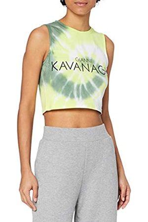 Gianni Kavanagh Damen Yellow Tie Dye Crop Top Unterhemd