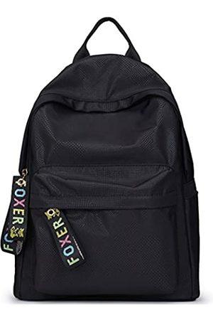 FOXER Damen Oxford Rucksack Geldbörse Mädchen Schultaschen Weiblich Reiserucksack Taschen (black3)