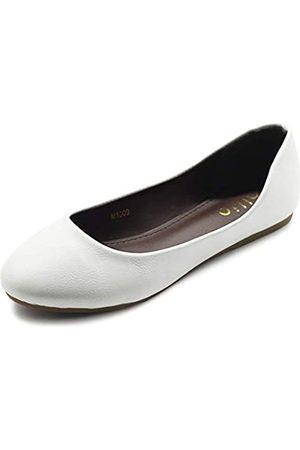 Ollio Damen Schuh Ballett Basic Light Comfort Low Heel Flach