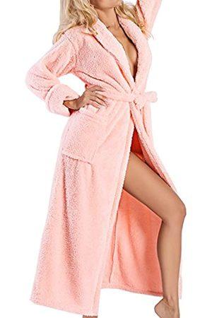 DKaren Damen Bademantel | ELIZA | lang | Größen XS-2XL | verschiedene Farben | 100% Polyester | S
