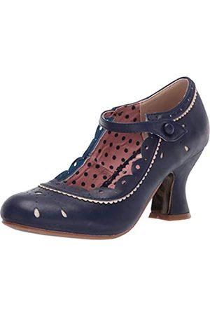 Bettie Page Damen Vintage Style Pump, (Navy)