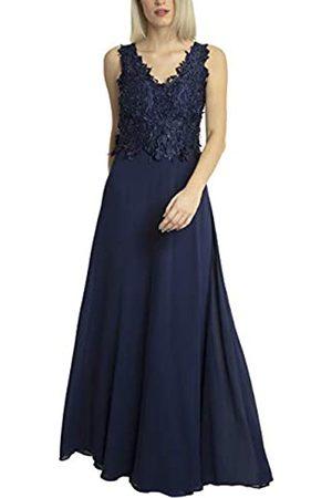 Apart APART Elegantes Damen Kleid lang, Abendkleid, Ballkleid, Spitze mit Perlen Bestickt, weiter Chiffonrock