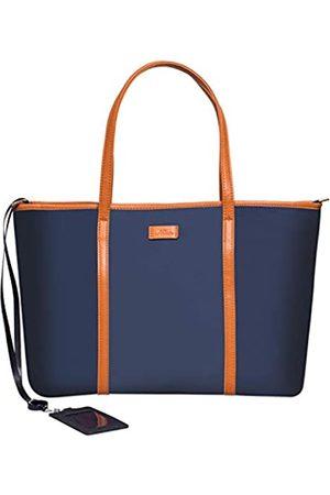 Nathalie Laptoptasche Damen/Herren, leicht, wasserabweisend, Nylon, Handtasche, Reisetasche, Arbeitstasche, Schultasche, Lehrertasche mit kostenlosem Foto-Ausweishalter, Blau (Big Nave)