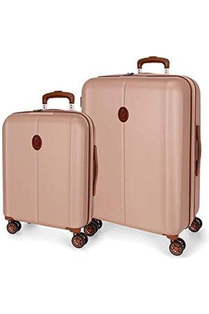 El Potro Ocuri Kofferset Rosa 55/70 cms Hartschalen ABS TSA-Schloss 118L 4 Doppelräder Handgepäck