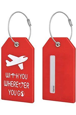 TRAVOKO Gepäckanhänger – 2 Packungen Best Travel Baggage Tags mit Sichtinformationen Karten