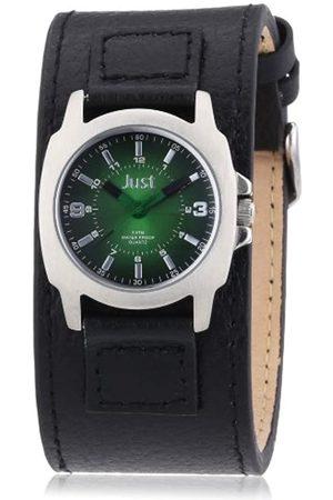 Just Watches Damen-Armbanduhr XS Analog Leder 48-S9238L-BK-GR