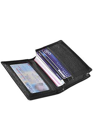 Outrip Visitenkartenetui aus echtem Leder, Kreditkartenetui mit Ausweisfenster