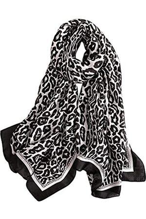 Unbekannt Alice Seidiger Satin-Schal für Damen, Leopardenmuster