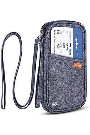 homchen RFID-blockierender Reisepasshülle für Reisepass, Dokumenten-Organizer, Tasche mit Handgelenk und Hals