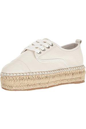 JSLIDES Women's Rally Fashion Sneaker, White Leather