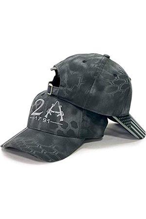 Spirit of Venture The 2nd Amendment 1791 Camo Cap mit USA-Flagge Visier – Pro Camo Serie Premium Qualität Hut – vorgebogenes Visier – Outdoor Cap – Einheitsgröße