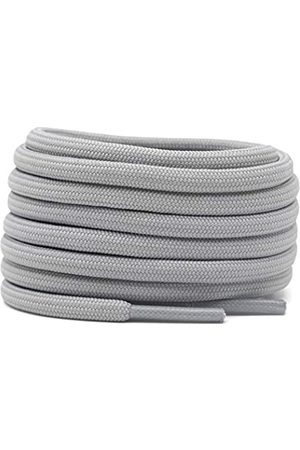 DELELE 2 Pair Round Solid Climbing Shoelaces Light Gray Hiking Shoe Laces Boot Laces 34 inch