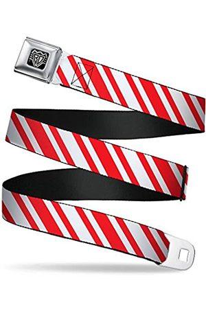 Buckle-Down Sicherheitsgurt – Candy Cane3 Streifen weiß/3 rot – 2,5 cm breit – 50