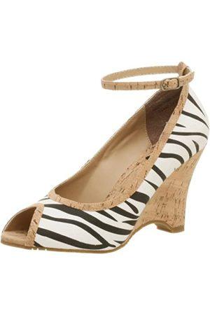 Not Rated Melissa Peep Toe Wedge für Damen, Mehrere (Zebra)
