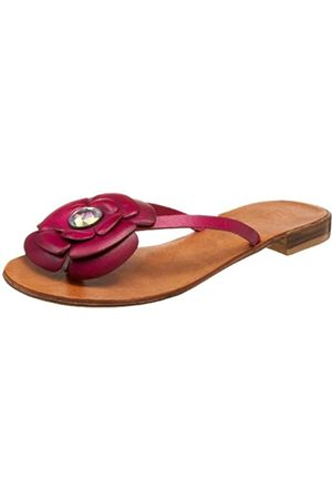 ZIGIny Damen-Sandalen mit Blütenblatt-Design, Pink (Fuchsia)
