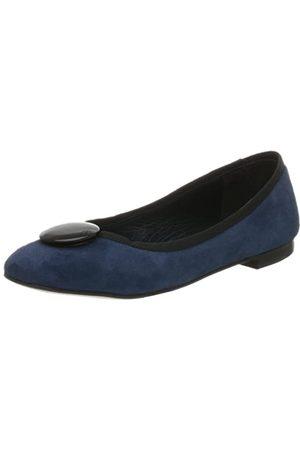 Kenneth Cole New York Flache Damen-Ballerinas mit Knöpfen, Blau (Saphir)