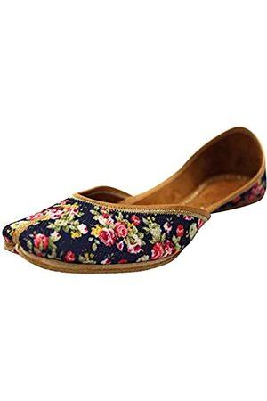 Step N Style Flip Flops Punjabi Jutti Khussa Schuhe Brautschuhe Gedruckt Mojari Jooti, (mehrfarbig)