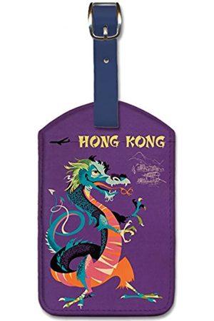 Pacifica Island Art Gepäckanhänger aus Kunstleder – Hong Kong von Harry Rogers