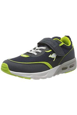KangaROOS Jungen Schuhe - Unisex-Kinder KX-3100 EV Sneaker, Dark Navy/Lime 4054