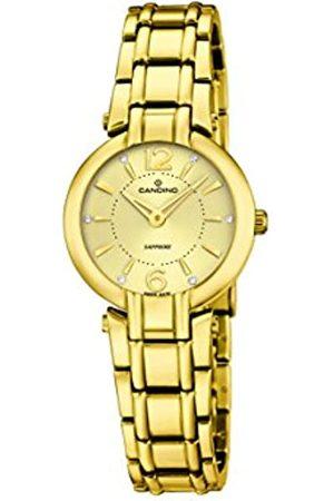 Candino Damen Analog Quarz Uhr mit Edelstahl beschichtet Armband C4575/2