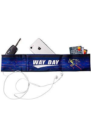 Way Day Damen Sporttaschen - Laufgürtel für Männer und Frauen   Geldhalter mit mehreren Taschen für Handy, Ausweis und Schlüssel   Schlanke Taille Ausrüstung, die während des Workout, Laufen, Joggen in Position bleibt (XXS (19-22), lila