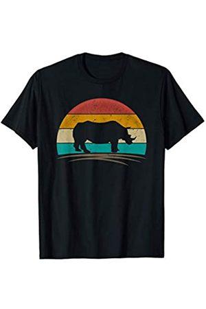 Wowsome! Damen T-Shirts, Polos & Longsleeves - Vintage Rhinoceros Retro 70s Distressed Rhino Men Women T-Shirt