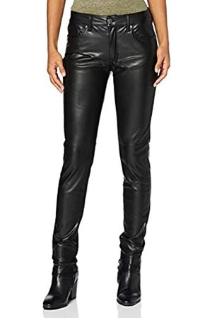 Herrlicher Damen Leder & Lederimitathosen - Damen Super G Slim Fake Leather Hose