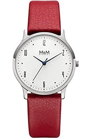 M&M Damen Uhren - DamenAnalogQuarzUhrmitLederArmbandM11941-743