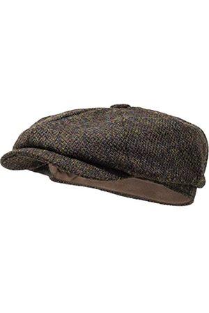 Borges & Scott Herren Hüte - Lomond Schirmmütze Newsboy – Schiebermütze aus 100% handgewebter Wolle - Harris Tweed - wasserabweisend - 56cm