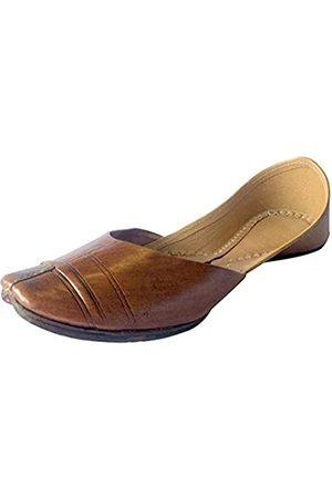 Step N Style Damen Flip Flops - Mojari Juti Khussa Leder-Flip-Flops für Damen, traditionell, handgefertigt