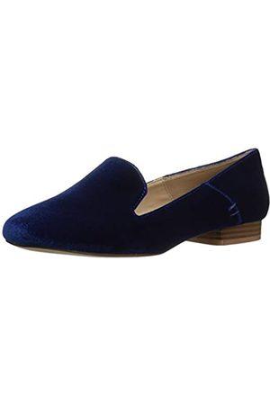 ATHENA Damen Lyrik Smoking Loafer, Blau (Marineblauer Samt)