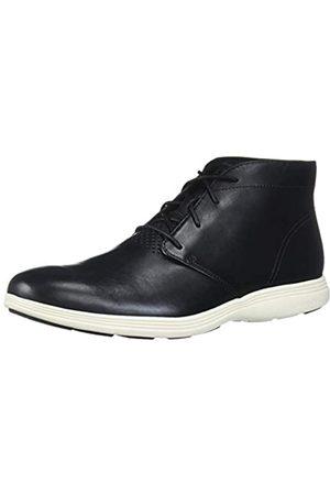 Cole Haan Herren Schuhe - Herren Grand Tour Black Leather/Ivory Chukka, Stiefel, -elfenbeinfarben