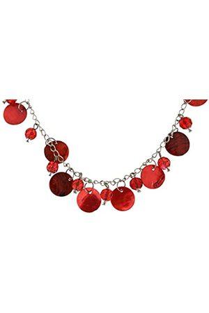 Jean Pierre Damen-Halskette Extra Lange Kette mit Perlmutplättchen Glasperlen Messing Glas 99 cm - HEJJRN0058