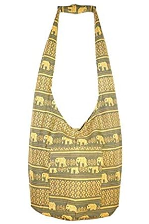 Atiya Thai Crossbody Schultertasche Geldbörse Hobo Sling Bag für Damen Herren handgefertigt Elefant Reise