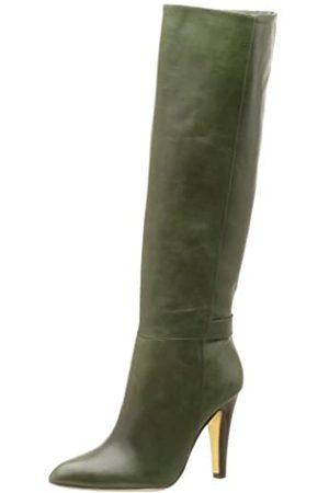 Kenneth Cole New York Damen Stiefel mit 4 Zähnen und hohem Schaft, Grün (Hunter)