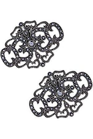 MLAVXCC 2 Stück Damen Vintage Schuhclips Strass Abnehmbare Schuhe Schnallen Hochzeit Party Schuhe Dekoration