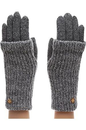 MIRMARU Damen Winter Wollmischung Doppellagige gestrickte warme Handschuhe - - Einheitsgröße