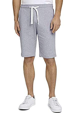 TOM TAILOR Herren 1026023 Sweatpants Bermuda Shorts, 15398-Light Stone Grey Melangé