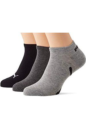 PUMA Unisex-Adult Lifestyle Sneaker-Trainer (3 Pack) Socks, Black/White