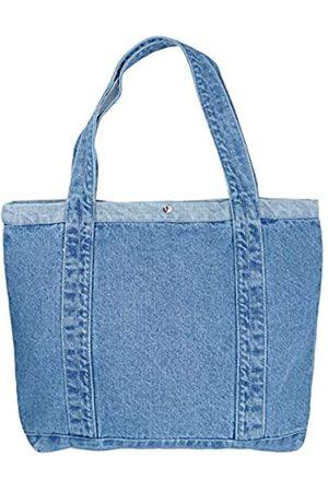 Yunzh Damen Umhängetaschen - Lässige Denim-Schultertasche, klassische Canvas-Tasche, Schultertasche, Einkaufstasche, Schule, Reisetaschen, Blau (0lightblue)