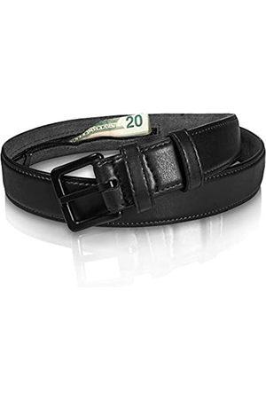 ITAY Belts Herren Reisetaschen - Reise Geldgürtel aus echtem Leder - metallfrei mit versteckter Anti-Diebstahl Geldtasche - - 80
