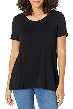 Amazon Damen-T-Shirt mit U-Ausschnitt (Black)