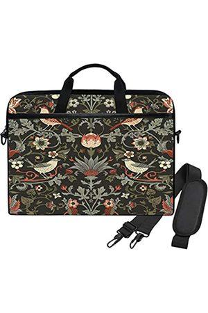 WIHVE Laptop- & Aktentaschen - William Morris Vintage Blumen und Vögel Laptop Schultertasche Messenger Bag Case Sleeve Sleeve für 14 Zoll 13 Zoll Laptop Aktentasche