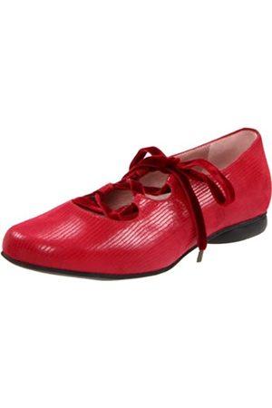 BeautiFeel Damen Lola Ballerina, flach, (Rotes, leuchtendes Wildleder)